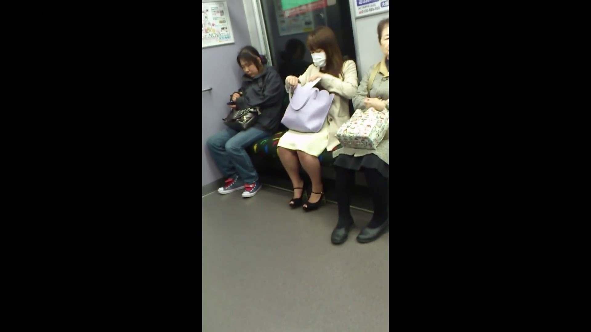 盗撮列車 Vol.55 黄色の爽やかなスカートが大好きです。 盗撮エロすぎ | OL  38連発 21