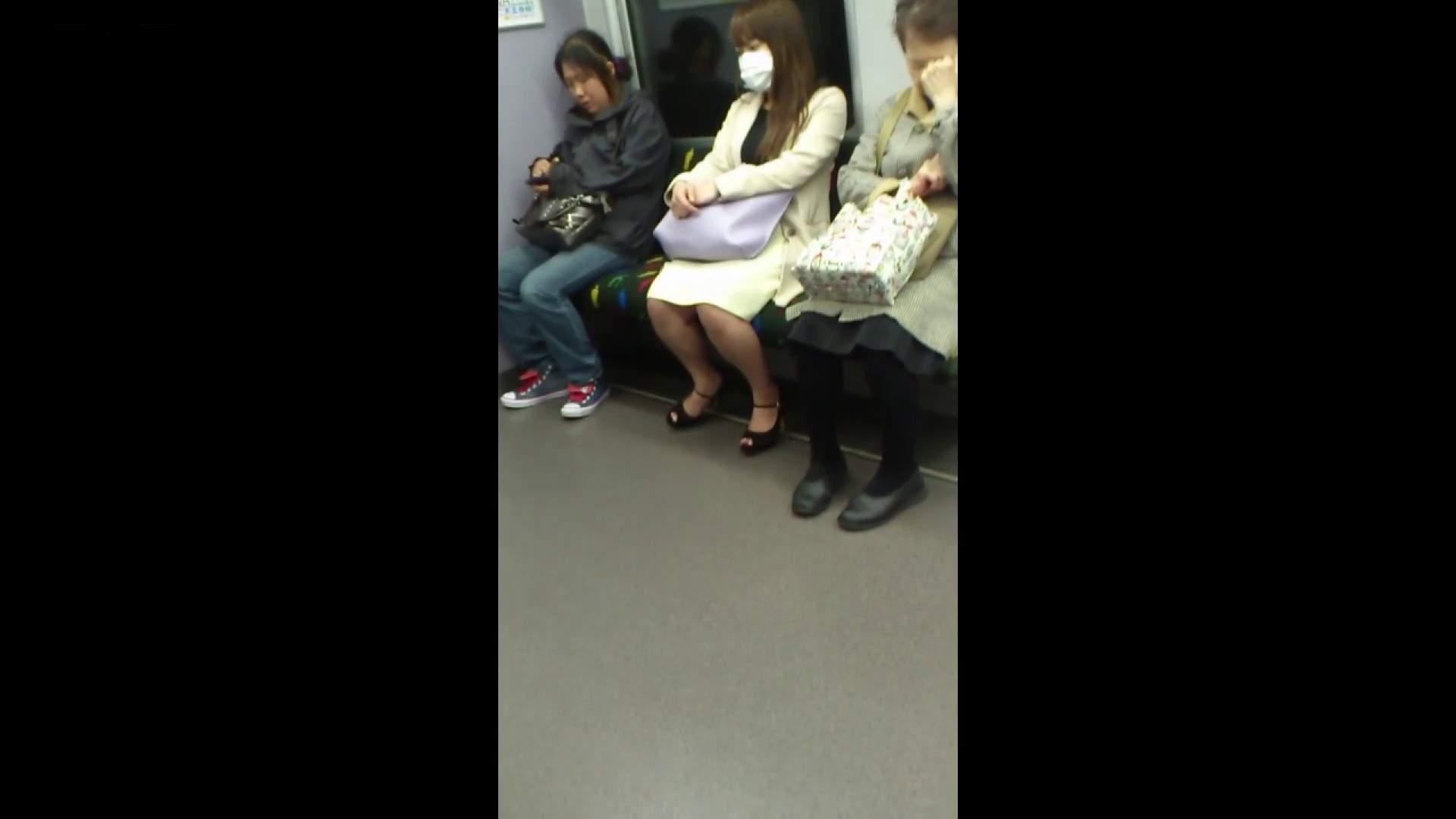 盗撮列車 Vol.55 黄色の爽やかなスカートが大好きです。 盗撮エロすぎ | OL  38連発 25