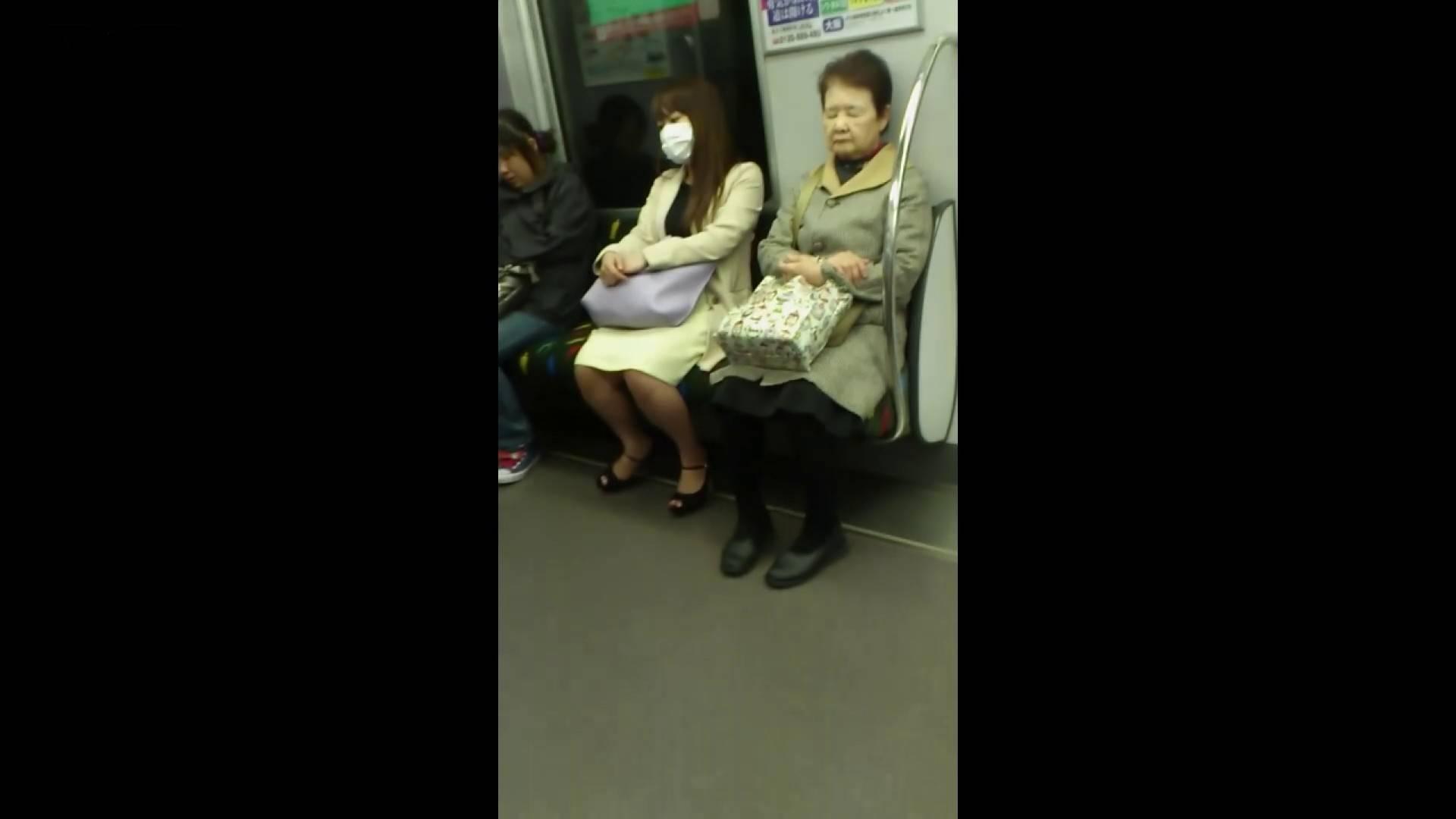 盗撮列車 Vol.55 黄色の爽やかなスカートが大好きです。 盗撮エロすぎ | OL  38連発 28