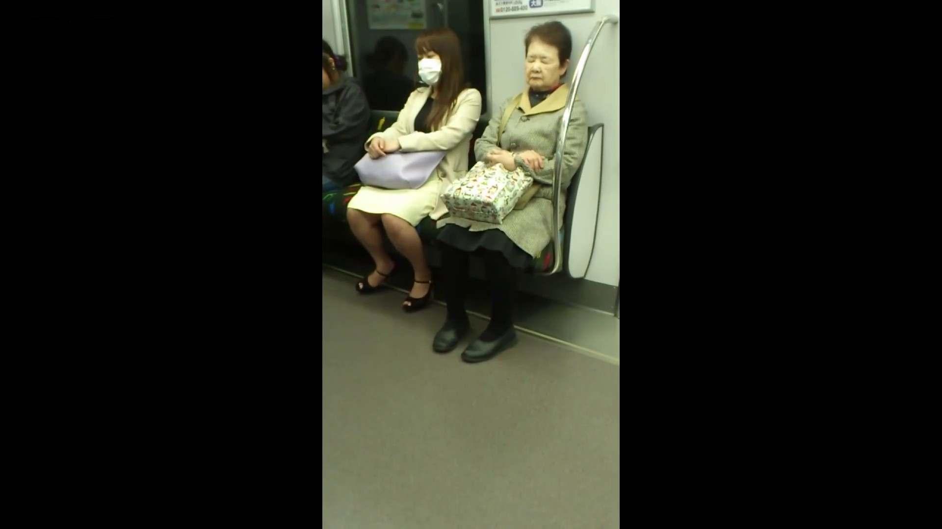 盗撮列車 Vol.55 黄色の爽やかなスカートが大好きです。 盗撮エロすぎ | OL  38連発 32