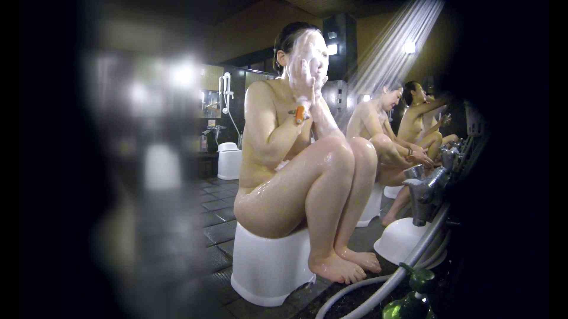 洗い場!米粉パンかのようなもっちり感。あっ!具が! 銭湯   潜入エロ調査  99連発 66