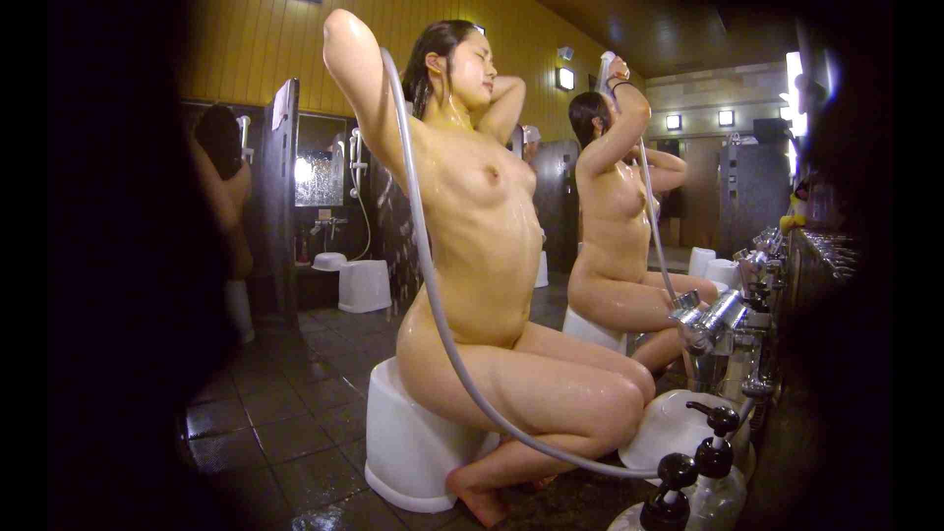 洗い場!ムッチリの2人組。美女ではないですが、触りたくなる体つき 銭湯 | 美女達のヌード  34連発 15