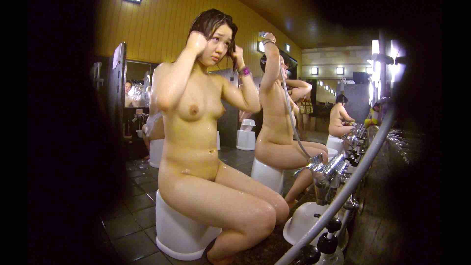 洗い場!ムッチリの2人組。美女ではないですが、触りたくなる体つき 銭湯 | 美女達のヌード  34連発 26